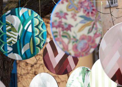 Textile Freiluft-Installation auf der Praterinsel