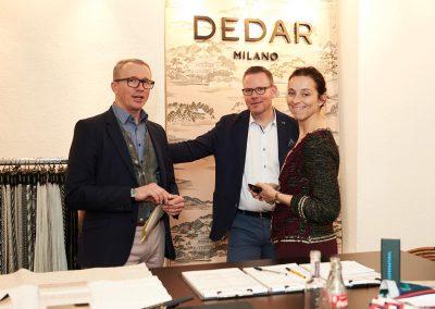 Dedar präsentierte die Neuheiten  im Pop-Up-Showroom auf der Praterinsel